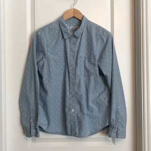 Madewell Denim polka dot shirt - L